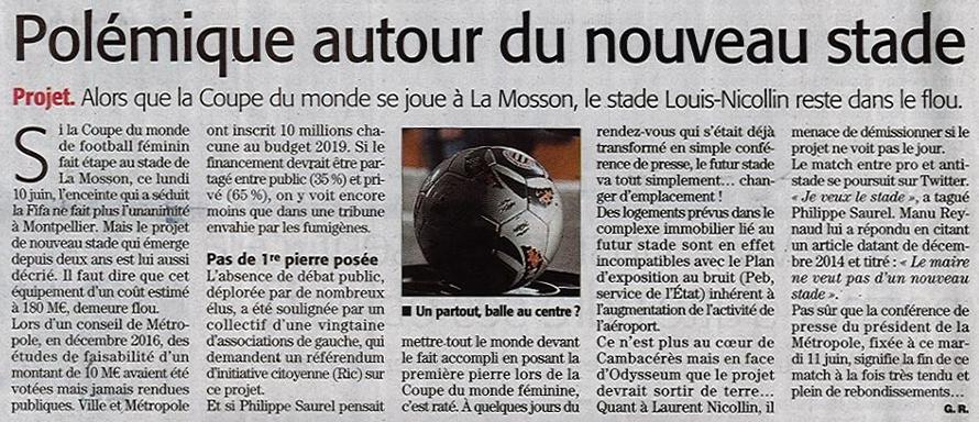 Article Midi Libre du 9 juin 2019